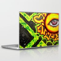 psychadelic Laptop & iPad Skins featuring Psychadelic sun by Annabomb