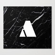 Black Marble - Alphabet A Canvas Print