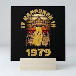 It Happened In 1979 UFO Alien Mini Art Print