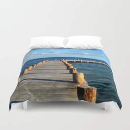 Docking In (Mexico) Duvet Cover