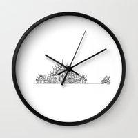 thailand Wall Clocks featuring amazing Thailand by Miyuki Sakurai