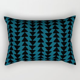 Blue Arrows Rectangular Pillow