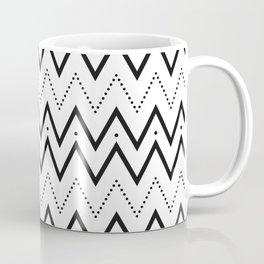 Black lines and dots pattern Coffee Mug