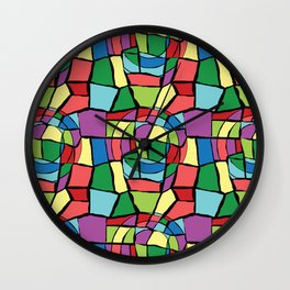 Stained-glass Wall Clock