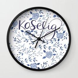 Koselig - Blue Wall Clock