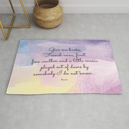 Give me books, French wine - Keats Rug