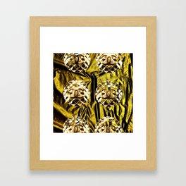 gold vintage earrings coco Framed Art Print