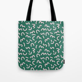 Funky Green and Pink Pattern Tote Bag