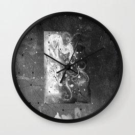 Blossom wolf: BW Wall Clock