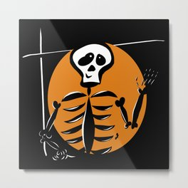 Skeleton - Halloween Collection Metal Print