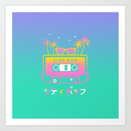 City Pop Summer theme Art Print
