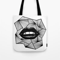lips Tote Bags featuring Lips by Aurelie