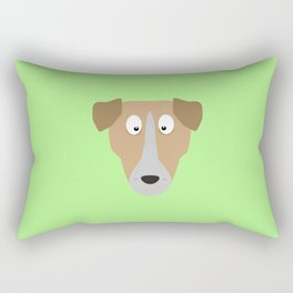 Cute Dog Face T-Shirt for Women, Men and Kids Rectangular Pillow