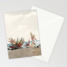 Nassau Beach with Century Plants by Winslow Homer, 1889 Stationery Cards
