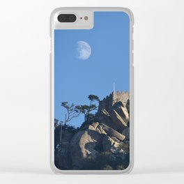 Magical Full Moon above the Castle of the Moors, Portugal Clear iPhone Case