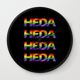 Rainbow Heda Wall Clock