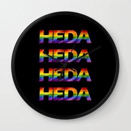 Rainbow Heda Wall Clock