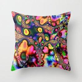 Psychedelic Acid Warp Throw Pillow
