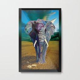 Elephant Time Metal Print