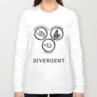 divergent Long Sleeve T-shirts featuring Divergent (Black) by Lunil