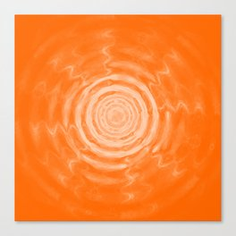 Ripples_Orange Canvas Print