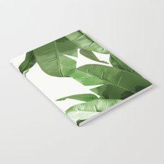 Tropical Palm Print Treetop Greenery Notebook