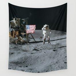 Apollo 16 - Astronaut Moon Jump Wall Tapestry