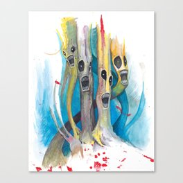 Barbershop Quartet of Evil Trees Canvas Print