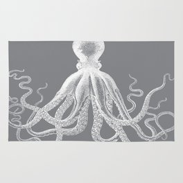 Octopus | Grey and White Rug