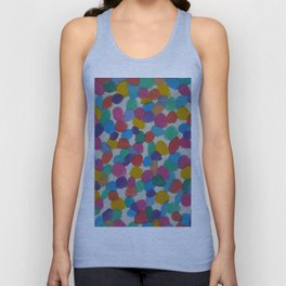 Rainbow Dots Abstract Watercolor Art Unisex Tank Top