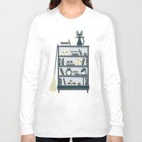 ghibli Long Sleeve T-shirts featuring Ghibli Shelf // Miyazaki by Daniel Mackey