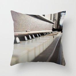 Neglected Piano Throw Pillow