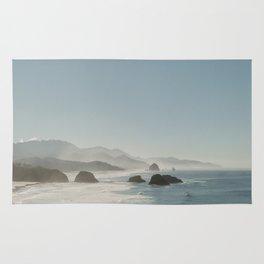 Hazy Morning at Cannon Beach, Oregon - Fine Art Film Travel Photography Rug