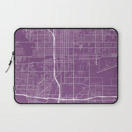 San Bernardino Map, USA - Purple Laptop Sleeve