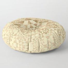 Sri Yantra  / Sri Chakra Pastel Gold Floor Pillow