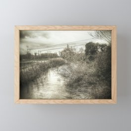 Whimsical Water Landscape Framed Mini Art Print