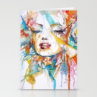 marylin monroe Stationery Cards featuring Marylin Monroe by Maria Zborovska