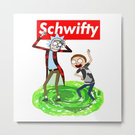 Rick morty Schwifty Metal Print