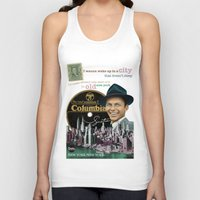 frank sinatra Tank Tops featuring Frank Sinatra - New York by Dots Studio