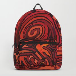 Red simbols Backpack