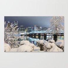 Portland Winter Canvas Print