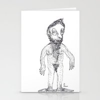 jewish Stationery Cards featuring Hairy Jewish Man Who Was Born With Alligator Feet by Josh Florence