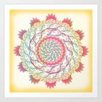 mandala Art Prints featuring Mandala by famenxt
