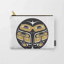 Northwest Pacific American Native Totem In Gold No. 5 Carry-All Pouch