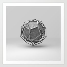 Dodecahedron Trine Art Print
