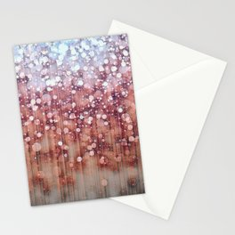 Autumn Rain Dreamy Abstract Stationery Cards