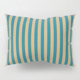 Laguna Blue and Mango Stripes Pillow Sham