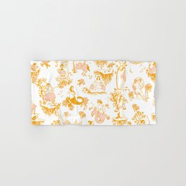 Astrology-Inspired Zodiac Gold Toile Pattern Hand & Bath Towel
