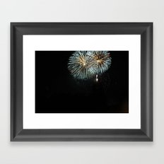 the Fireworks Framed Art Print