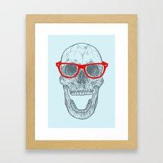 Smart-Happy Skully Framed Art Print
